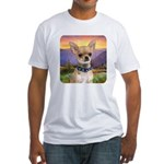Chihuahua Meadow Fitted T-Shirt