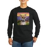 Chihuahua Meadow Long Sleeve Dark T-Shirt
