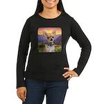 Chihuahua Meadow Women's Long Sleeve Dark T-Shirt