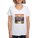 Chihuahua Meadow Women's V-Neck T-Shirt