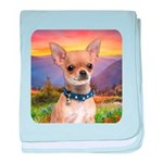 Chihuahua Meadow baby blanket