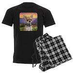 Chihuahua Meadow Men's Dark Pajamas