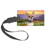 Chihuahua Meadow Large Luggage Tag