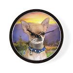 Chihuahua Meadow Wall Clock