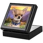 Chihuahua Meadow Keepsake Box