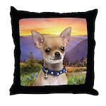 Chihuahua Meadow Throw Pillow