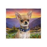 Chihuahua Meadow Throw Blanket