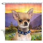 Chihuahua Meadow Shower Curtain