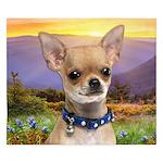Chihuahua Meadow King Duvet