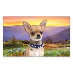 Chihuahua Meadow Sticker (Rectangle)