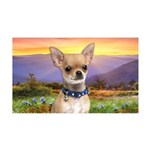 Chihuahua Meadow 35x21 Wall Decal