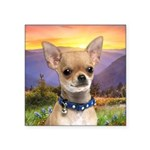 Chihuahua Meadow Square Sticker 3