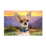 Chihuahua Meadow Mini Poster Print