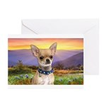 Chihuahua Meadow Greeting Cards (Pk of 20)