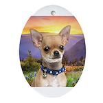 Chihuahua Meadow Ornament (Oval)