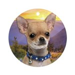Chihuahua Meadow Ornament (Round)