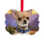 Chihuahua Meadow Picture Ornament