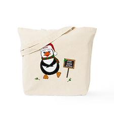Add Name To Dancing Penguin Tote Bag