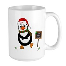 Add Name To Dancing Penguin Mug
