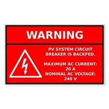 Solar PV Circuit Warning Decal
