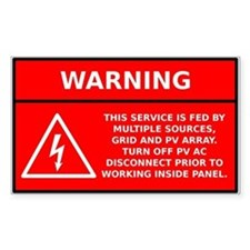 Solar PV Main Panel Warning Decal