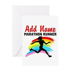 MARATHON RUNNER Greeting Card