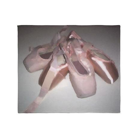 I Love Ballet Throw Blanket