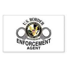 U.S. BORDER PATROL: Rectangle Decal