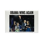 Obama Wins Again - 2012 Election Magnet (10 pack)