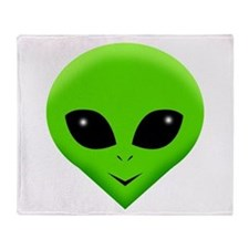 green alien.png Throw Blanket