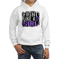Fight Like a Girl 31.8 H Lymphoma Hoodie