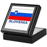 Slovenia Flag Gear Keepsake Box