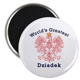 World's Greatest Dziadek Red Eagle Magnet