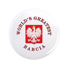 "World's Greatest Babcia Crest 3.5"" Button"
