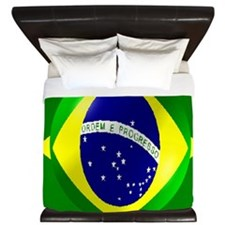 Brazil Flag King Duvet