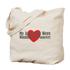 Washington Ancestors Heart Tote Bag