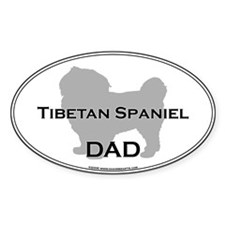 Tibetan Spaniel DAD Oval Decal