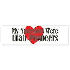 Utah Ancestors Heart Bumper Sticker