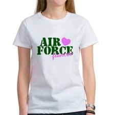 Air Force Fiancee Pink Hearts Tee