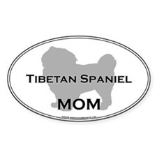 Tibetan Spaniel MOM Oval Decal