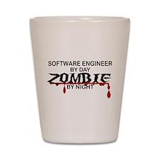 Software Engineer Zombie Shot Glass
