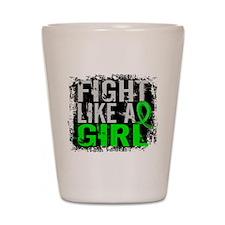 Licensed Fight Like a Girl 31.8 Lymphom Shot Glass