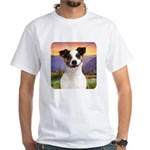Jack Russell Meadow White T-Shirt