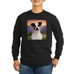 Jack Russell Meadow Long Sleeve Dark T-Shirt