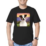 Jack Russell Meadow Men's Fitted T-Shirt (dark)