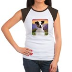 Jack Russell Meadow Women's Cap Sleeve T-Shirt