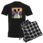 Jack Russell Meadow Men's Dark Pajamas