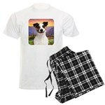 Jack Russell Meadow Men's Light Pajamas