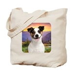 Jack Russell Meadow Tote Bag