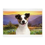Jack Russell Meadow 5'x7'Area Rug